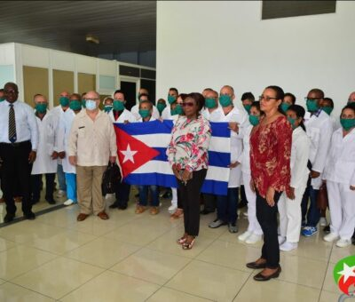 GOVERNMENT WELCOMES 34 MEMBER MEDICAL BRIGADE FROM CUBA TO ASSIST ST. KITTS AND NEVIS IN COVID-19 PANDEMIC RESPONSE