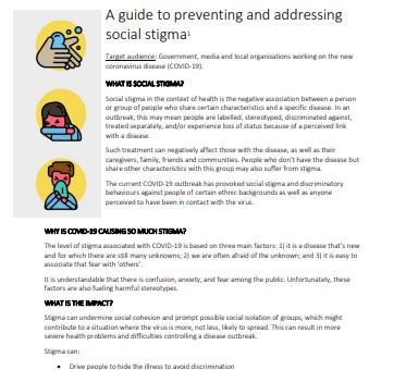 Covid-19 Stigma Guide