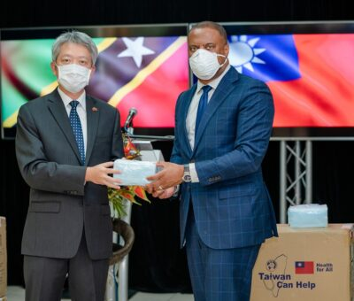 GOVERNMENT OF THE REPUBLIC OF CHINA (TAIWAN) SUPPLIES ST. KITTS-NEVIS WITH AN ADDITIONAL 60,000 MASKS TO HELP FIGHT THE COVID-19 PANDEMIC