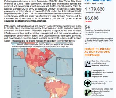 PAHO/WHO Operational Report 5—COVID-19