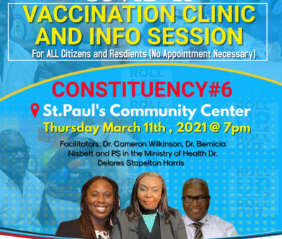 PUBLIC EDUCATION PROGRAMME ON VACCINATION CONTINUES THIS EVENING IN ST. PAUL'S